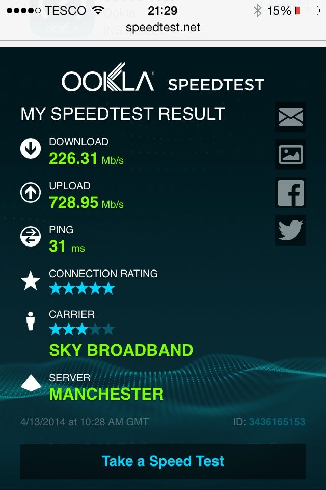 how to check download and upload speed