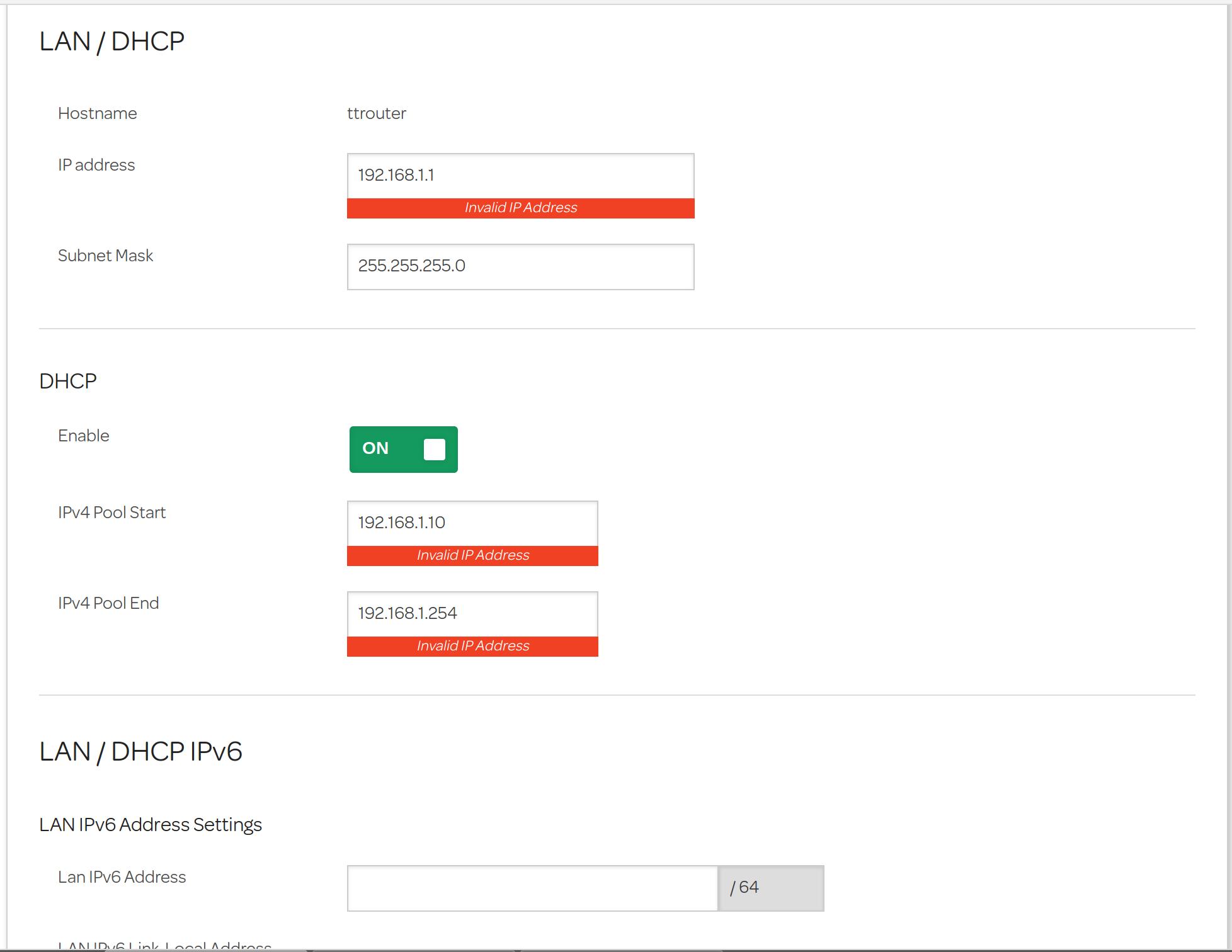 WiFi Hub - static IP addresses - TalkTalk Help & Support