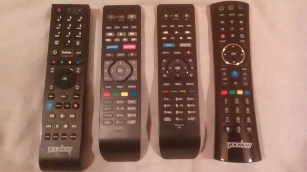Versions 2, 3 and 4 TT Remotes and the HUMAX Remote.