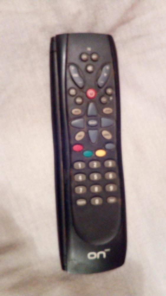"Front of ""ON TV"" REMOTE."