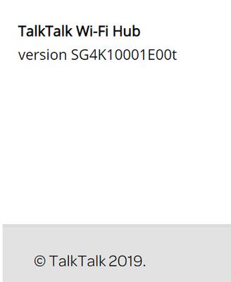 TalkTalk Hub Version