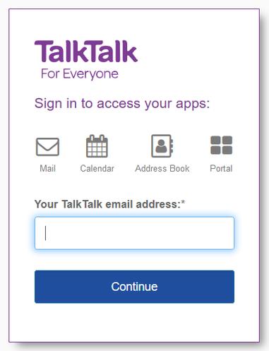 My Talktalk Webmail >> New Email Inbox Problem With Login Data Autofill