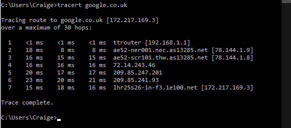 Traceroute (when speed is fine)