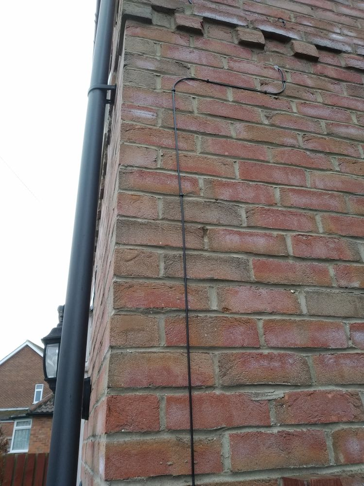cable from junction box to first floor