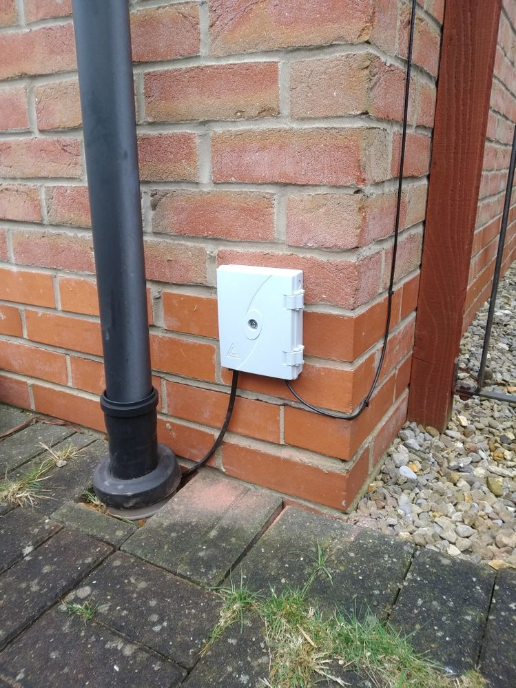 junction box on front of house