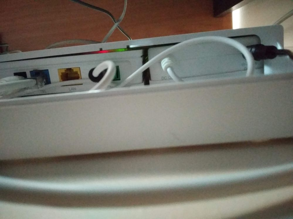 underside of GPON terminal & battery box