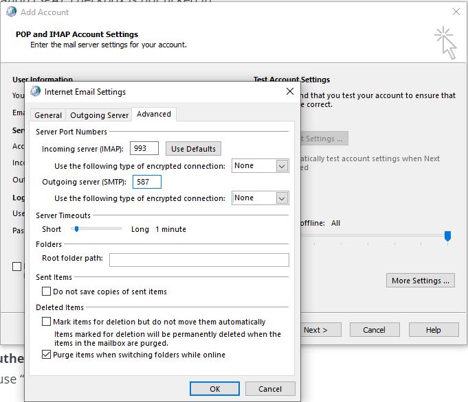 Server port settings