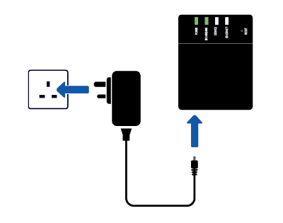black Fibre Connection Box plugged into the wall socket.png