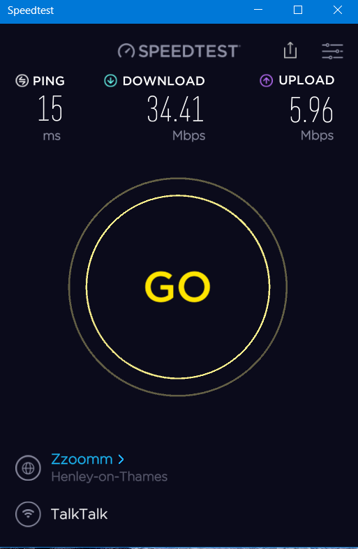 Additional Seperated Speed Test