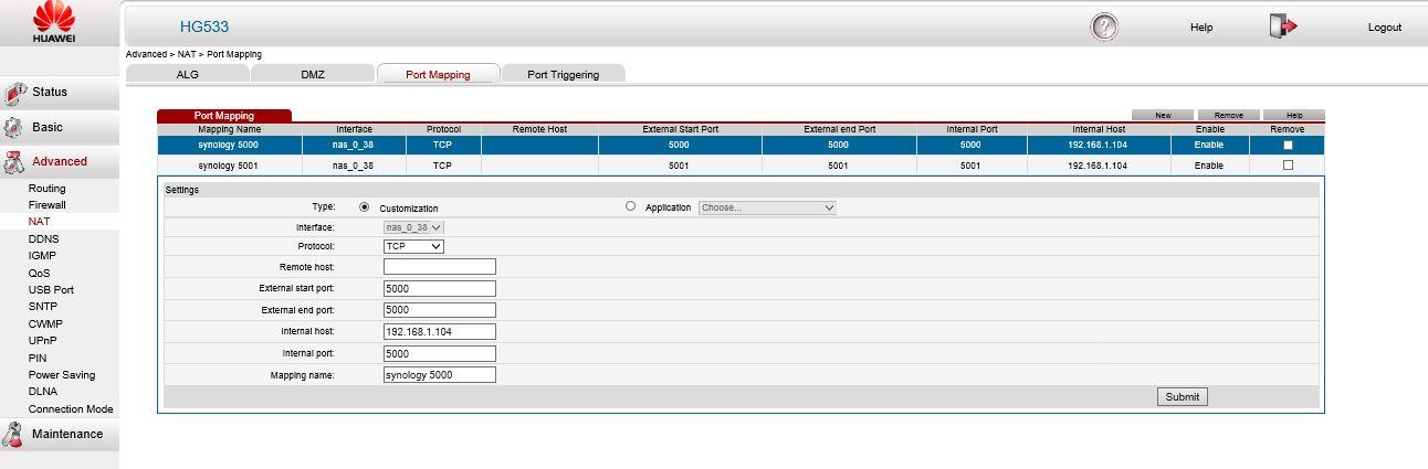 Solved: hg533 port forwarding problem - TalkTalk Help & Support