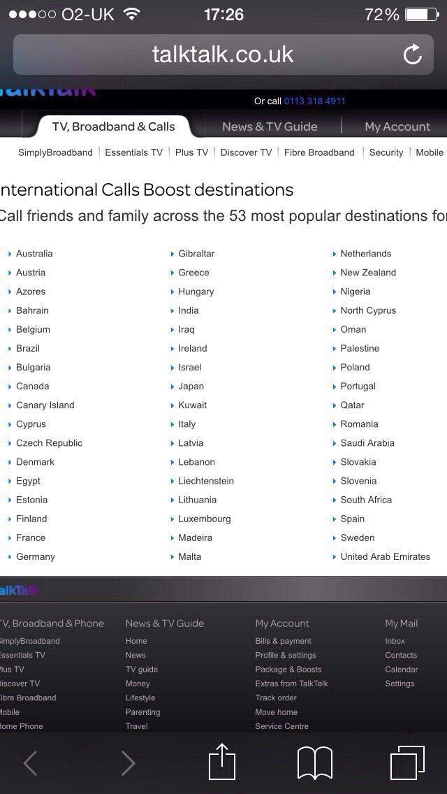 My Talktalk Webmail >> International boost - TalkTalk Community