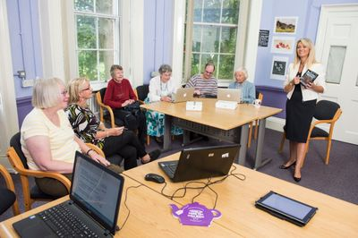 Donna hosting an event in Sheffield about scam prevention