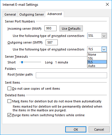 Solved: Log onto incoming mail server (IMAP): A secure con