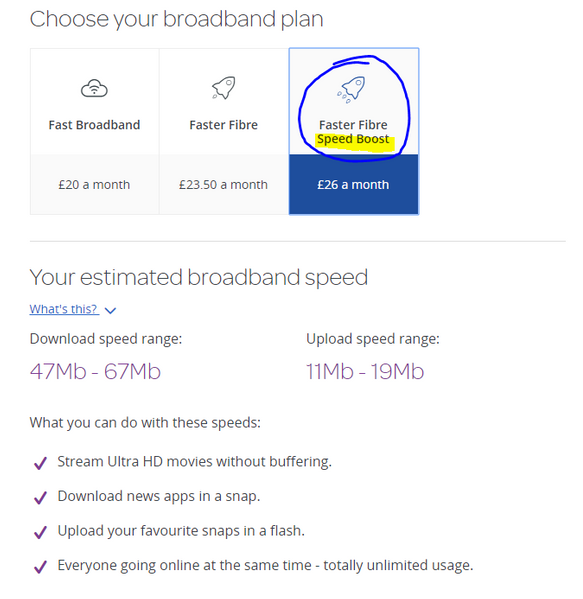 How long does it take for the fibre speed boost to    - TalkTalk