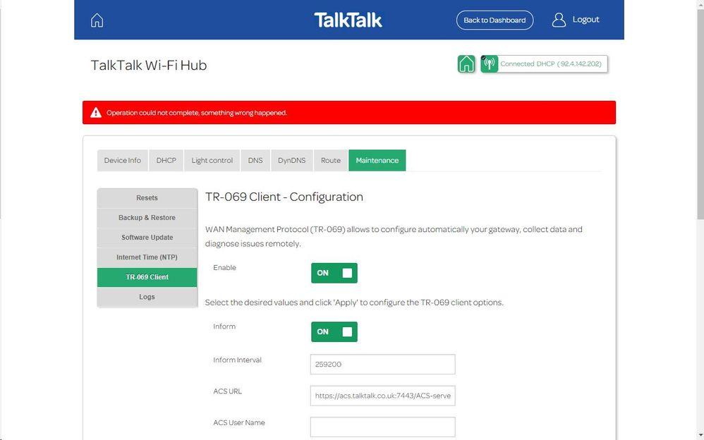 Sagemcom FAST 5364 WiFi channel changes - TalkTalk Help