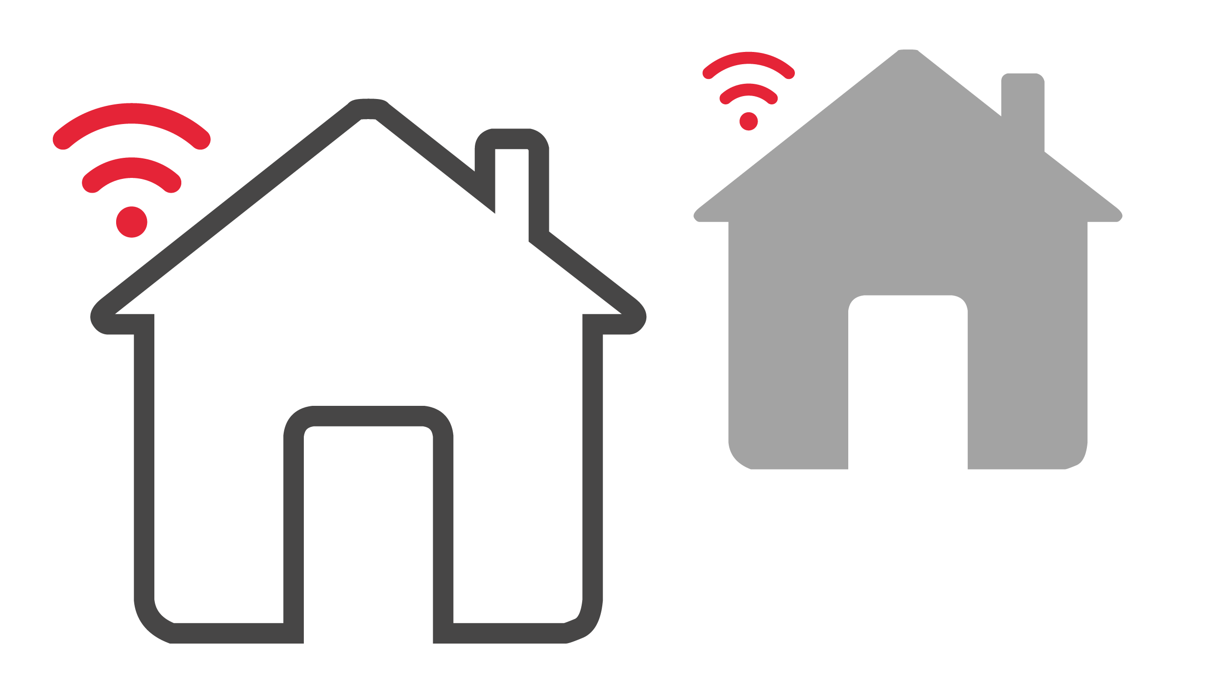 Two routers in two different houses sharing the same Wi-Fi channel